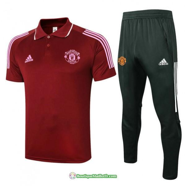 Maillot Kit Entraînement Manchester United Polo 2...