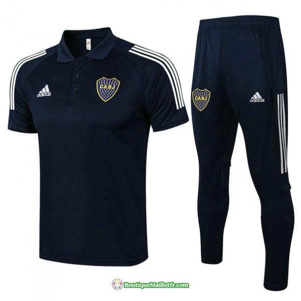 Maillot Kit Entraînement Polo Boca Juniors 2021 2...