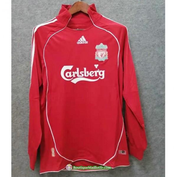 Maillot Liverpool Retro 2006 08 Domicile Manche Lo...
