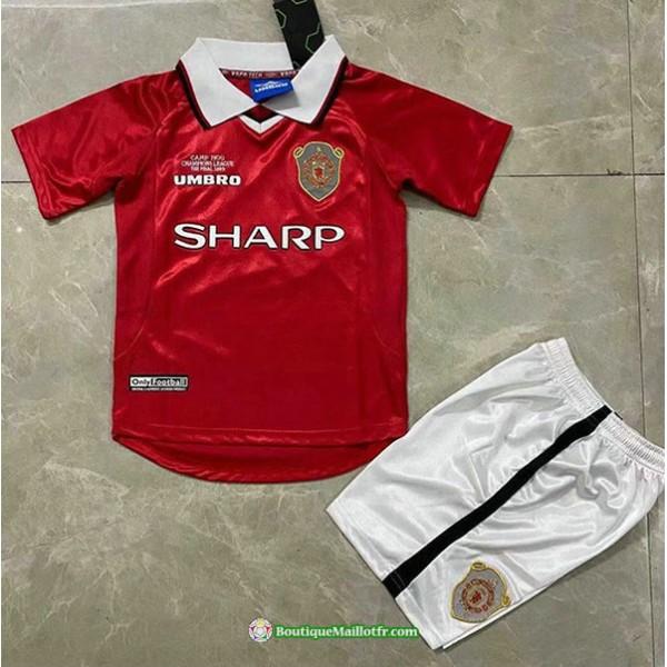 Maillot Manchester United Enfant Retro 1999 2000 D...