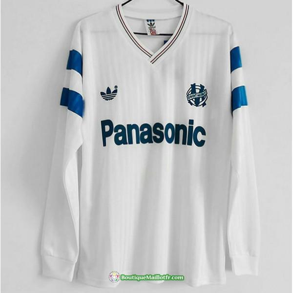Maillot Marseille Retro 1990 Domicile Manche Longu...