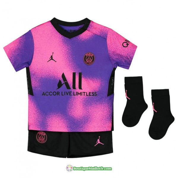 Maillot Paris Saint Germain Enfant 2020 2021 Fourt...