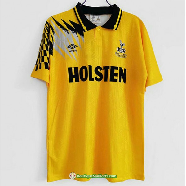 Maillot Tottenham Hotspur Retro 1992 Jaune