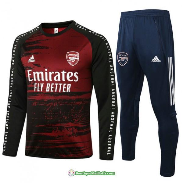 Survetement Arsenal 2020 2021 Noir/rouge
