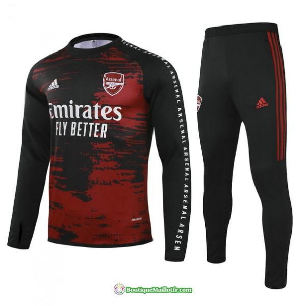 Survetement Arsenal 2021 2022 Rouge/noir Col Rond