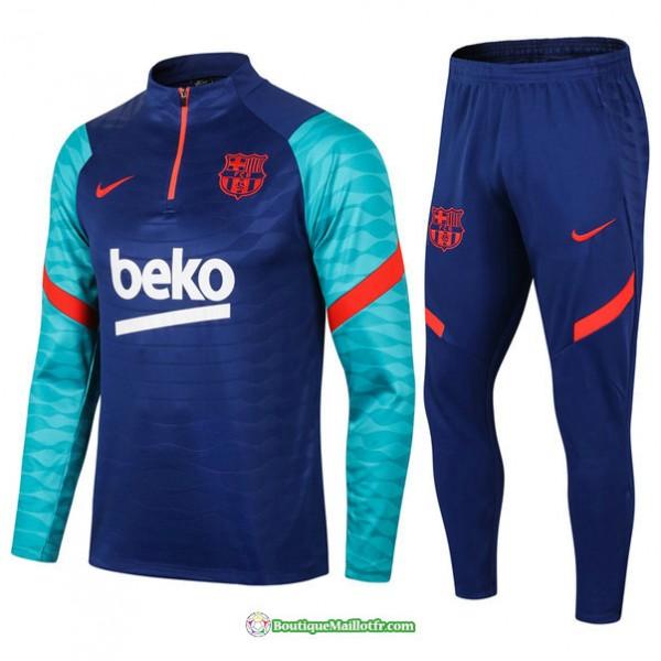 Survetement Barcelone 2021 2022 Bleu Coloré/rouge
