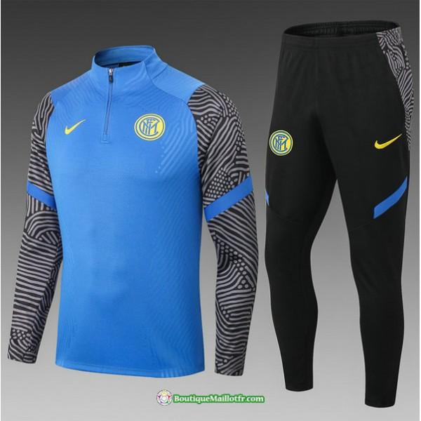 Survetement Inter Milan 2021 2022 Enfant Bleu/noir