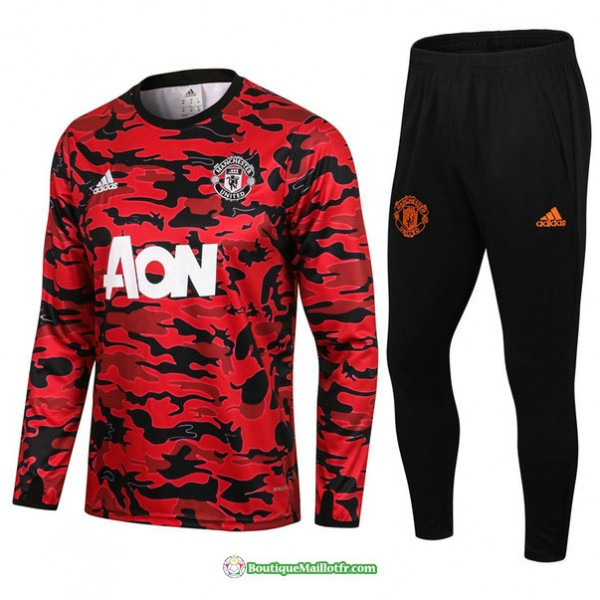 Survetement Manchester United 2021 2022 Rouge/noir...