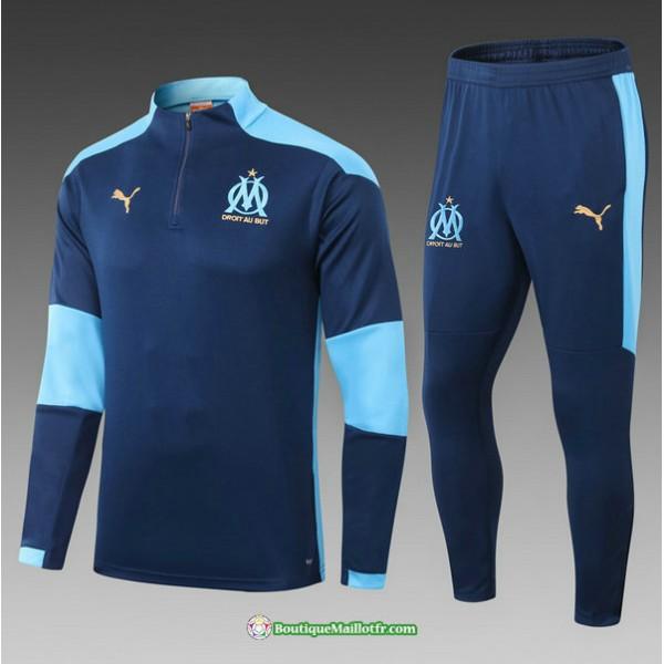 Survetement Marseille 2021 2022 Enfant Bleu Marine