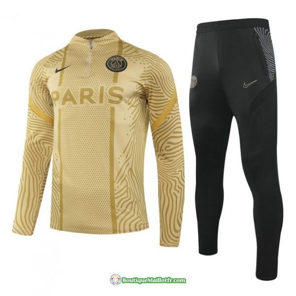 Survetement Paris Saint Germain 2020 2021 Jaune É...