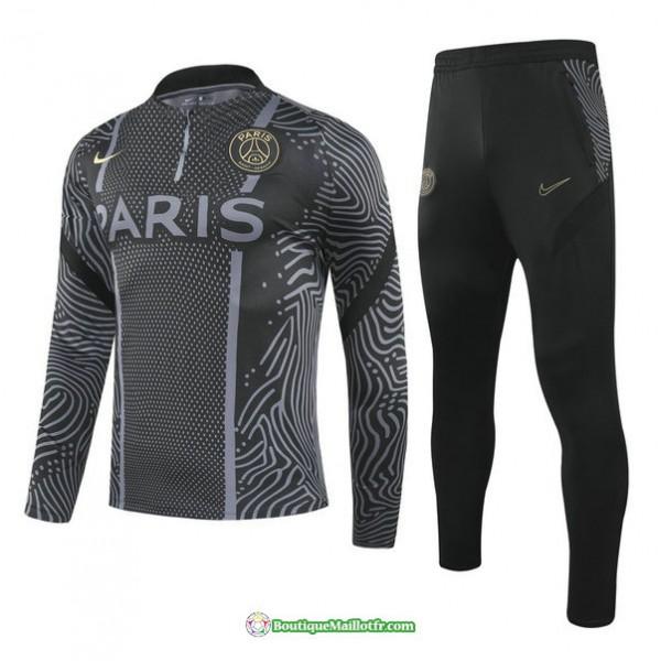 Survetement Paris Saint Germain 2020 2021 Noir Éd...