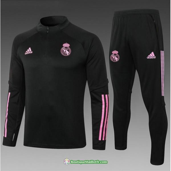 Survetement Real Madrid 2020 2021 Enfant Noir/roug...