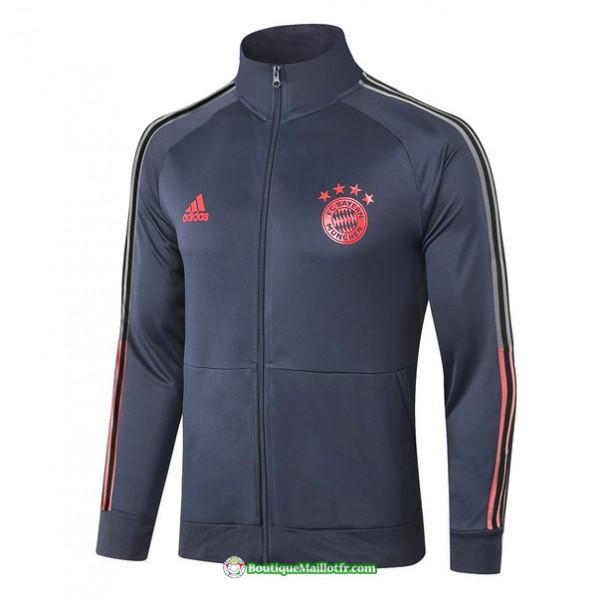 Veste Bayern Munich 2020 2021 Col Haut Bleu Marine