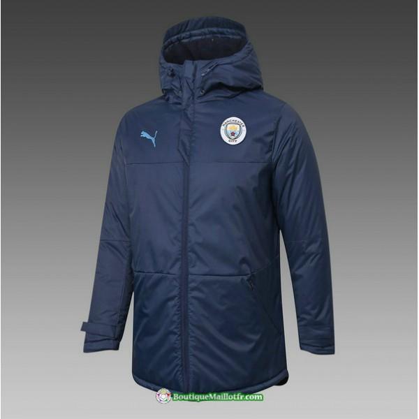 Veste Doudoune Manchester City 2020 2021 Bleu Mari...