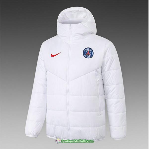 Veste Doudoune Paris Saint Germain 2020 2021 Blanc