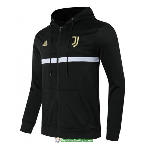 Veste Juventus 2020 2021 à Capuche Noir