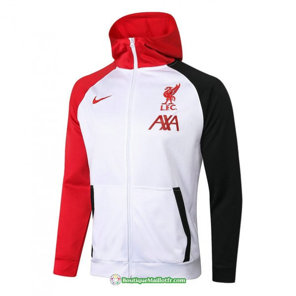 Veste Liverpool 2020 2021 à Capuche Blanc