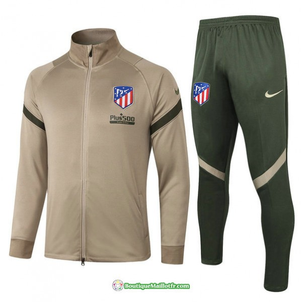 Veste Survetement Atletico Madrid 2020 2021 Kaki