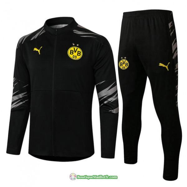Veste Survetement Borussia Dortmund 2020 2021 Noir