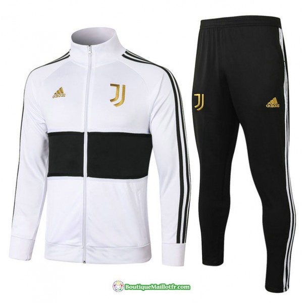 Veste Survetement Juventus 2020 2021 Col Haut Blan...
