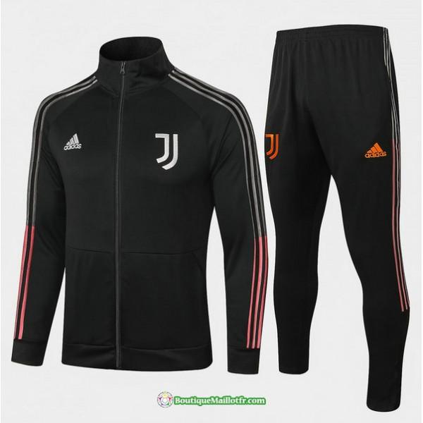 Veste Survetement Juventus 2020 2021 Col Haut Noir