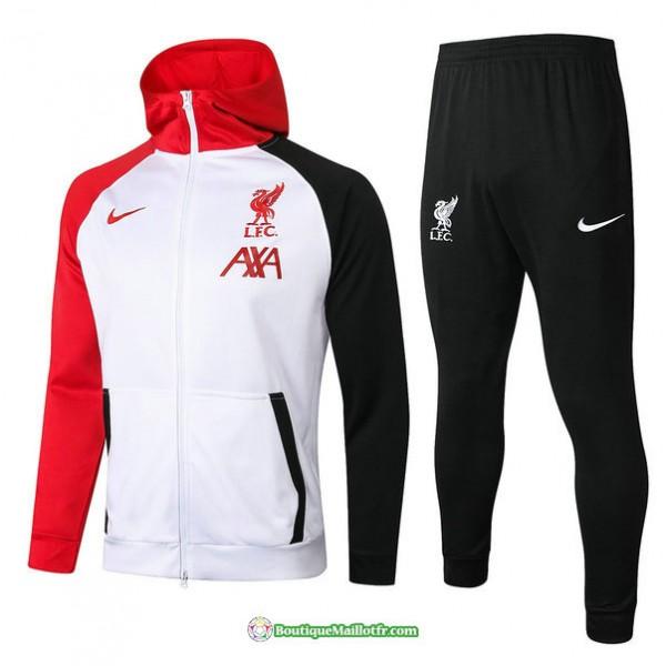 Veste Survetement Liverpool 2020 2021 à Capuche B...