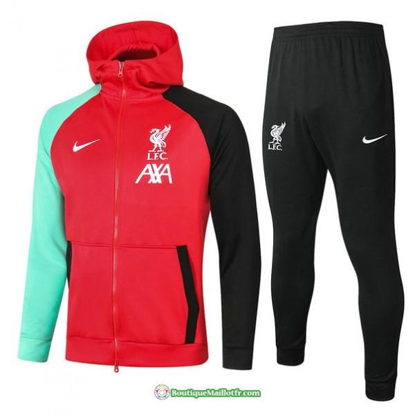 Veste Survetement Liverpool 2021 2022 à Capuche R...