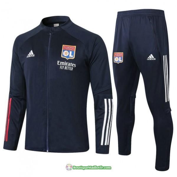 Veste Survetement Lyon 2020 2021 Bleu Marine