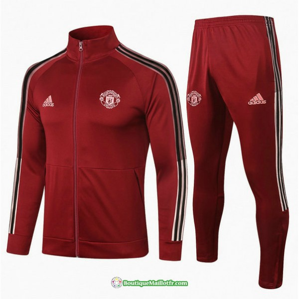 Veste Survetement Manchester United 2020 2021 Bord...