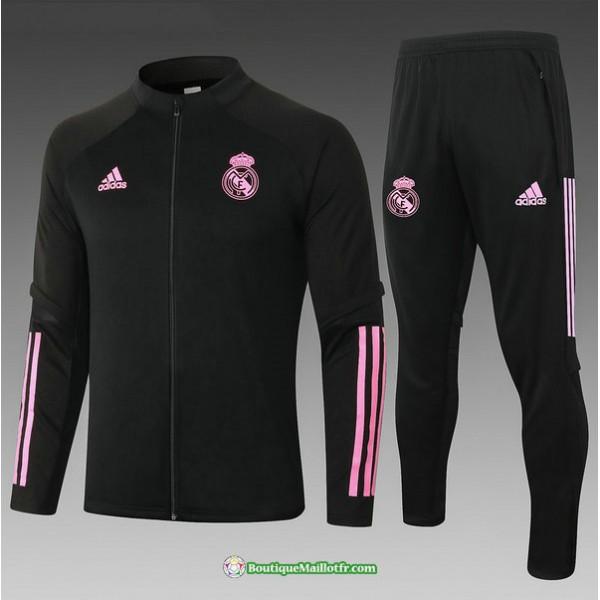 Veste Survetement Real Madrid 2020 2021 Enfant Noi...