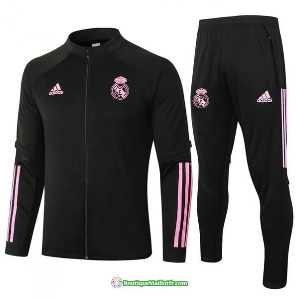 Veste Survetement Real Madrid 2020 2021 Noir/rouge