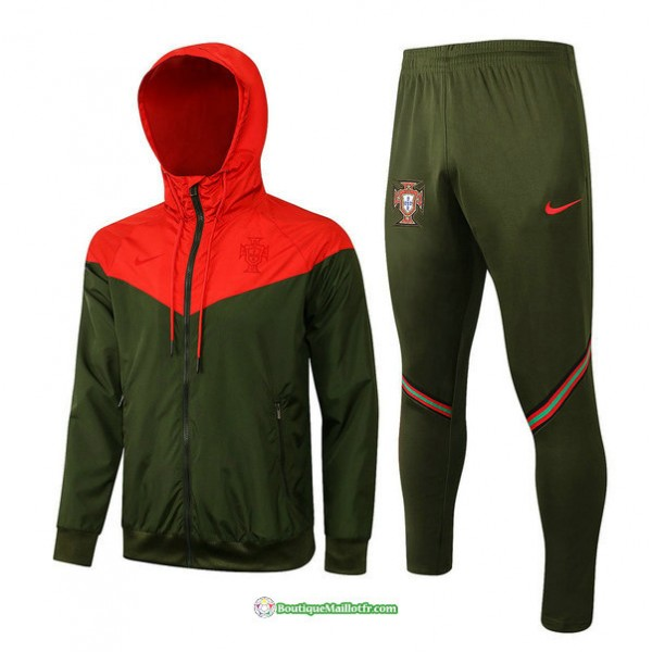 Coupe Vent Portugal 2021 2022 Armee Verte/ Rouge