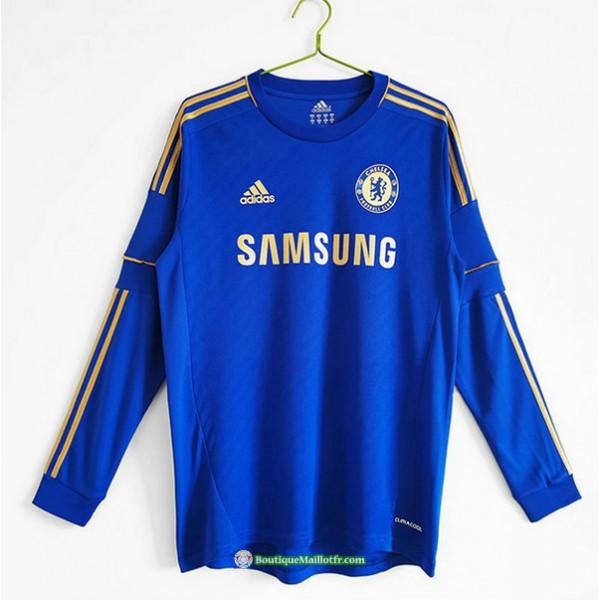 Maillot Chelsea Rétro 2012 13 Domicile Manche Lon...