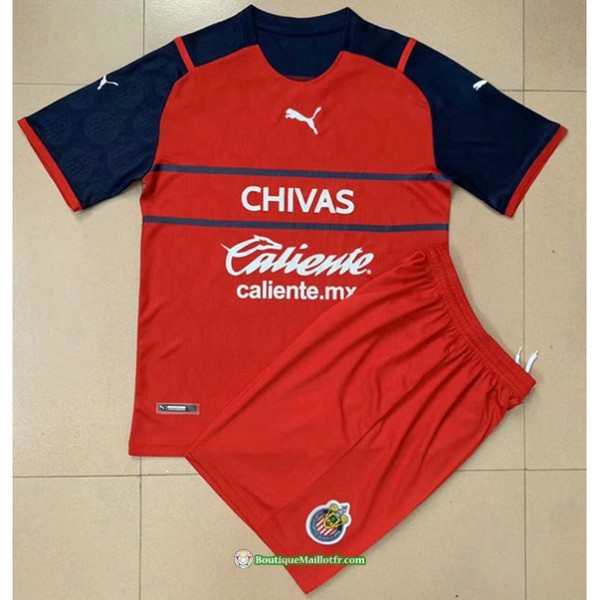 Maillot Chivas Regal Enfant 2021 2022 Rouge