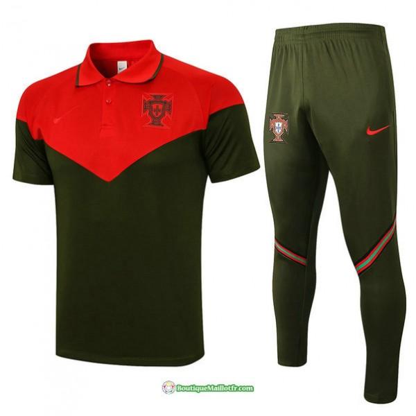 Maillot Kit Entraînement Polo Portugal 2021 2022 ...