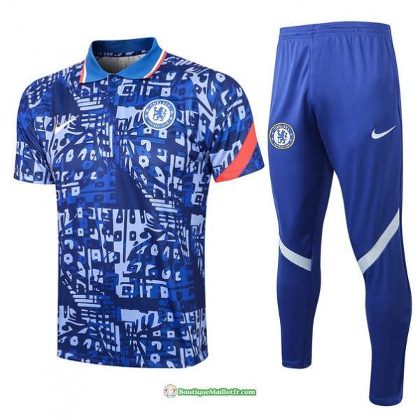 Maillot Kit Entraînement Polo Chelsea 2021 2022 T...
