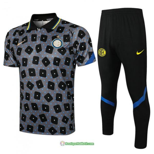 Maillot Kit Entraînement Polo Inter Milan 2021 20...