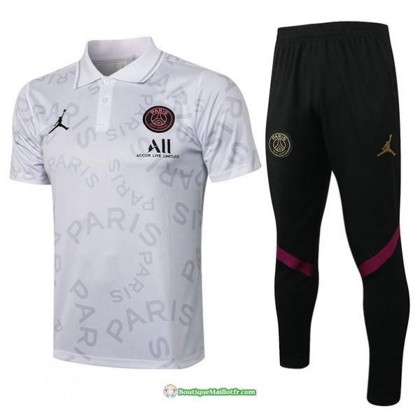 Maillot Kit Entraînement Polo Psg Jordan 2021 202...