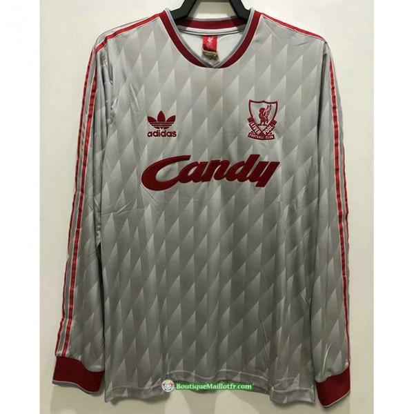 Maillot Liverpool Rétro 1989 91 Exterieur Manche ...