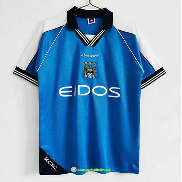 Maillot Manchester City Rétro 1999 01 Domicile
