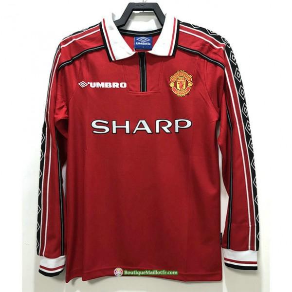 Maillot Manchester United Rétro 1998 Domicile Man...