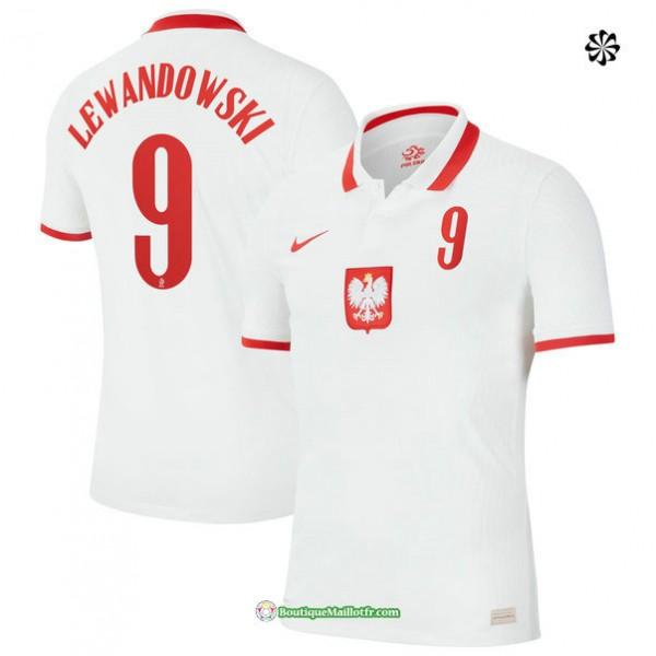 Maillot Pologne Domicile Lewandowski 9 2020 21