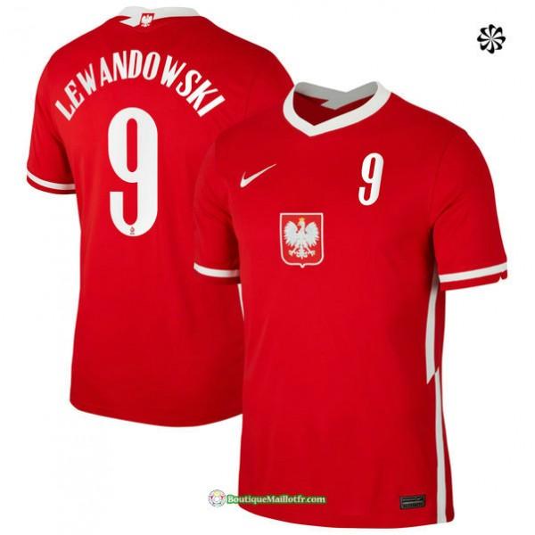 Maillot Pologne Exterieur Lewandowski 9 2020 21