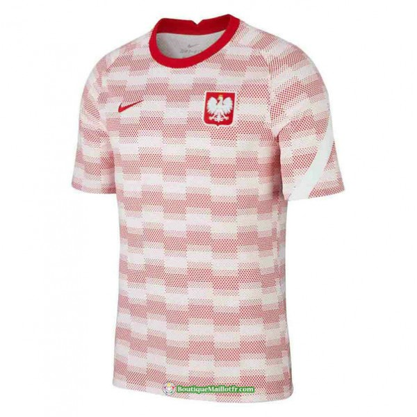 Maillot Pologne Pre Match Training Blanc 2020