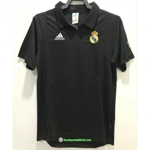 Maillot Real Madrid Rétro 2002 2003 Exterieur Cha...