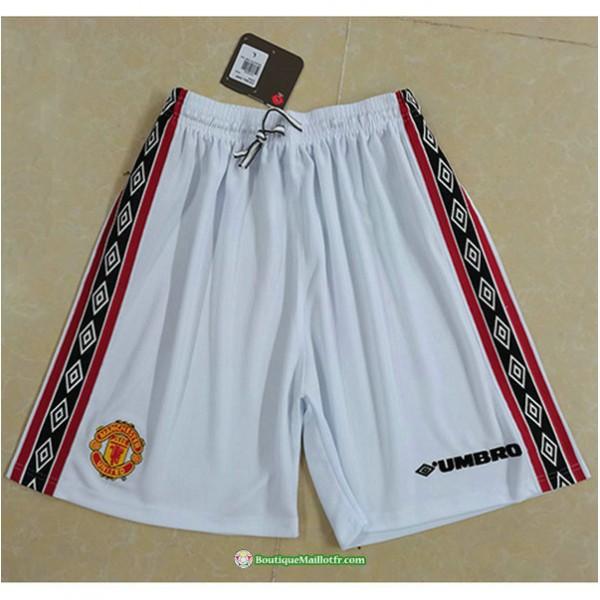 Maillot Short Manchester United Blanc