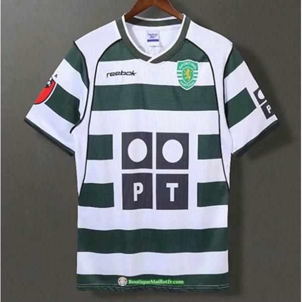 Maillot Sporting Lisbon Rétro 2001 03 Domicile