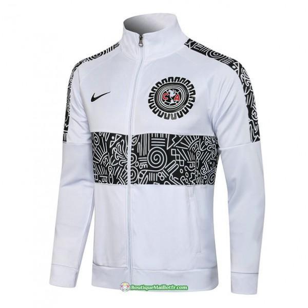 Veste Cf América 2021 2022 Blanc Col Haut