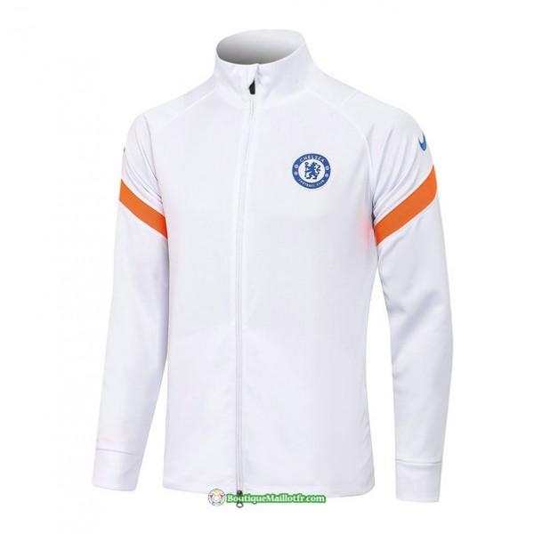 Veste Chelsea 2021 2022 Blanc Col Haut