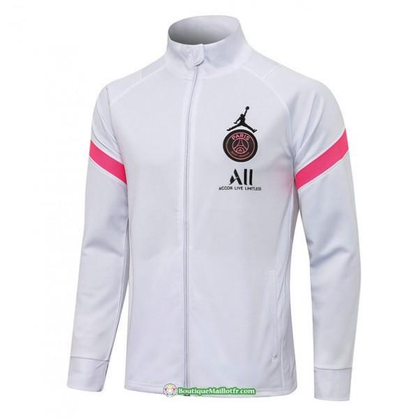 Veste Psg Jordan 2021 2022 Blanc